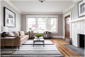 Spacious minimalist living room